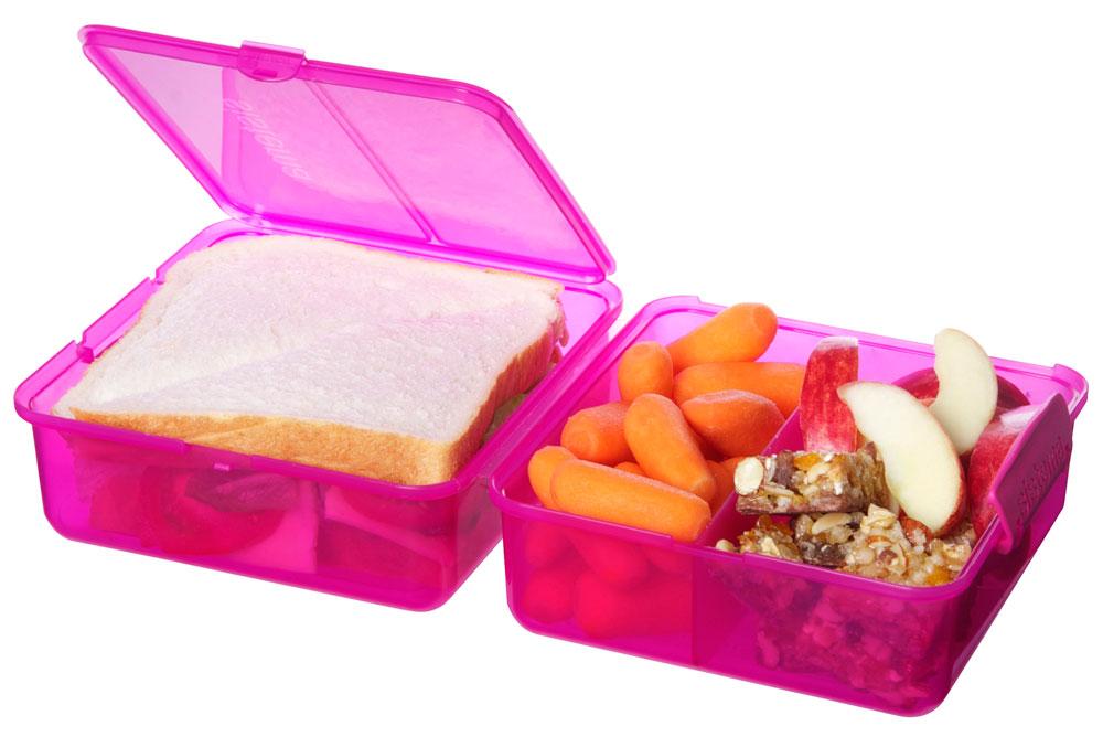 sistema lunchbox to go cube mit 3 f chern 1 4l versch. Black Bedroom Furniture Sets. Home Design Ideas
