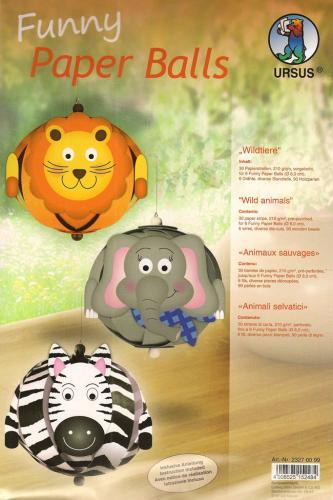 Details Ursus Designpapie Funny Paper Balls Wildtiere Safari