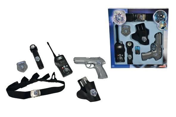 polizei streife mit g rtel pistole walkie talkie polizeimarke taschenlampe ebay. Black Bedroom Furniture Sets. Home Design Ideas