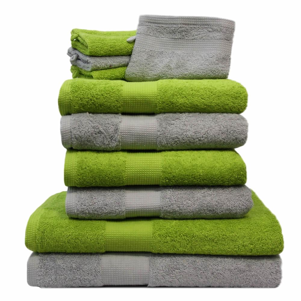 10 tlg handtuch set 4 handt cher 2 duscht cher 4. Black Bedroom Furniture Sets. Home Design Ideas