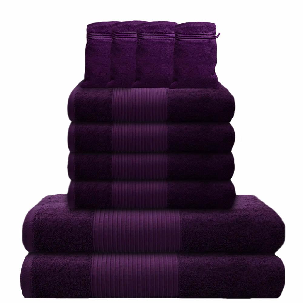 10 tlg handtuchset 2 badet cher 4 handt cher 4. Black Bedroom Furniture Sets. Home Design Ideas