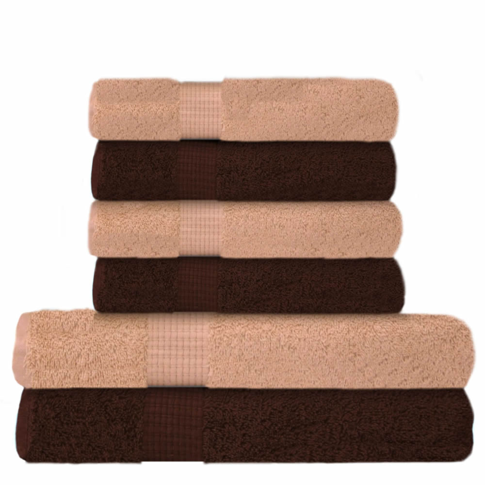 6 tlg handtuch set 2 duscht cher 4 handt cher. Black Bedroom Furniture Sets. Home Design Ideas