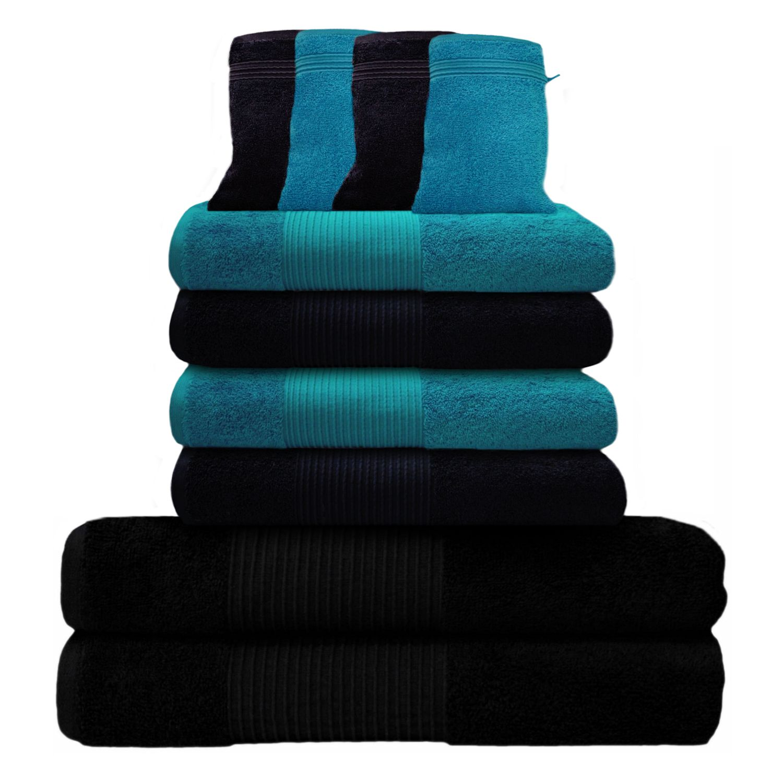 10 tlg handtuch set 2 duscht cher 4 handt cher 4. Black Bedroom Furniture Sets. Home Design Ideas