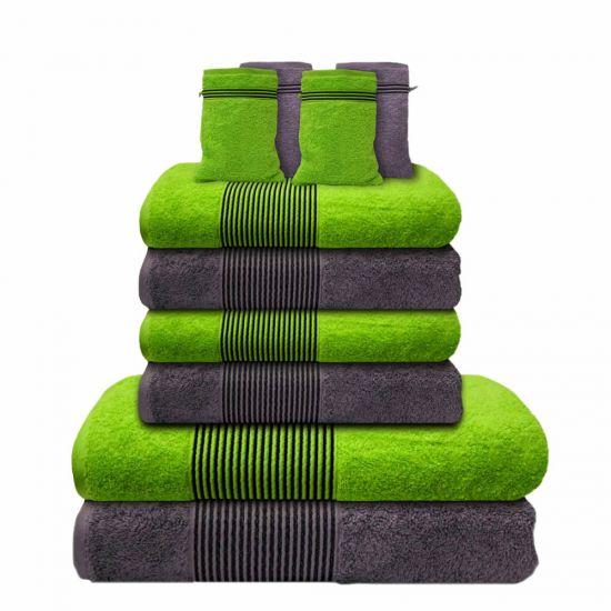 10 tlg handtuchset 2 duscht cher 4 handt cher 4. Black Bedroom Furniture Sets. Home Design Ideas