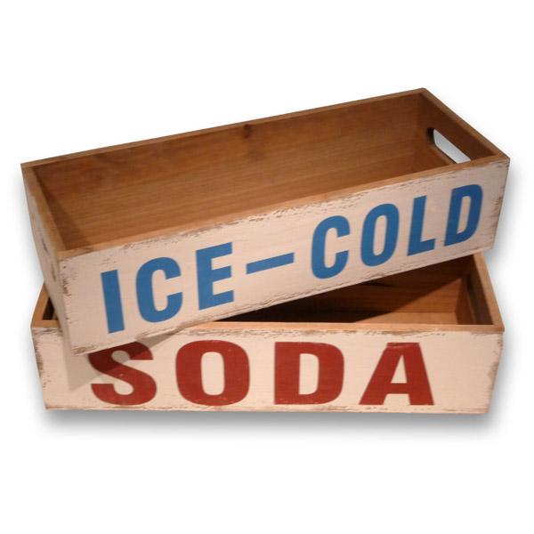 tablett im set soda ice cold im vintage look ebay. Black Bedroom Furniture Sets. Home Design Ideas