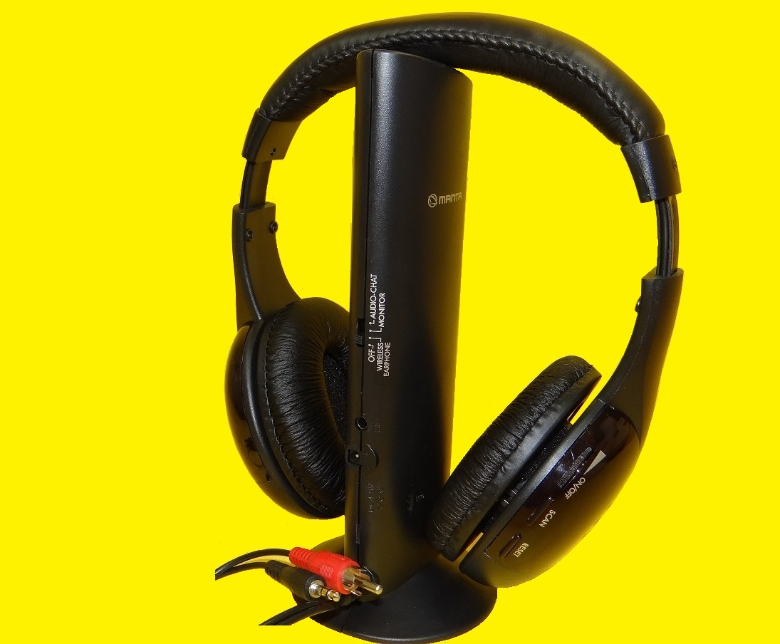 drahtloser funkkopfh rer mit fm radio integrierter mikrofon f r skype bis 20m ebay. Black Bedroom Furniture Sets. Home Design Ideas