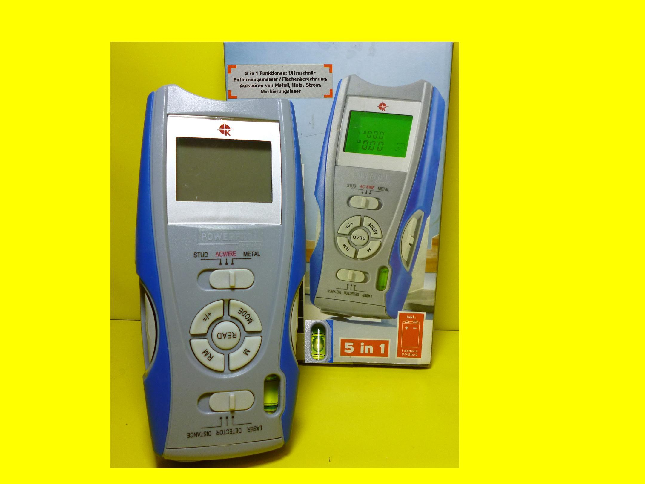 Messgerät multidetektor 5 in 1 funktionen entfernungsmesser