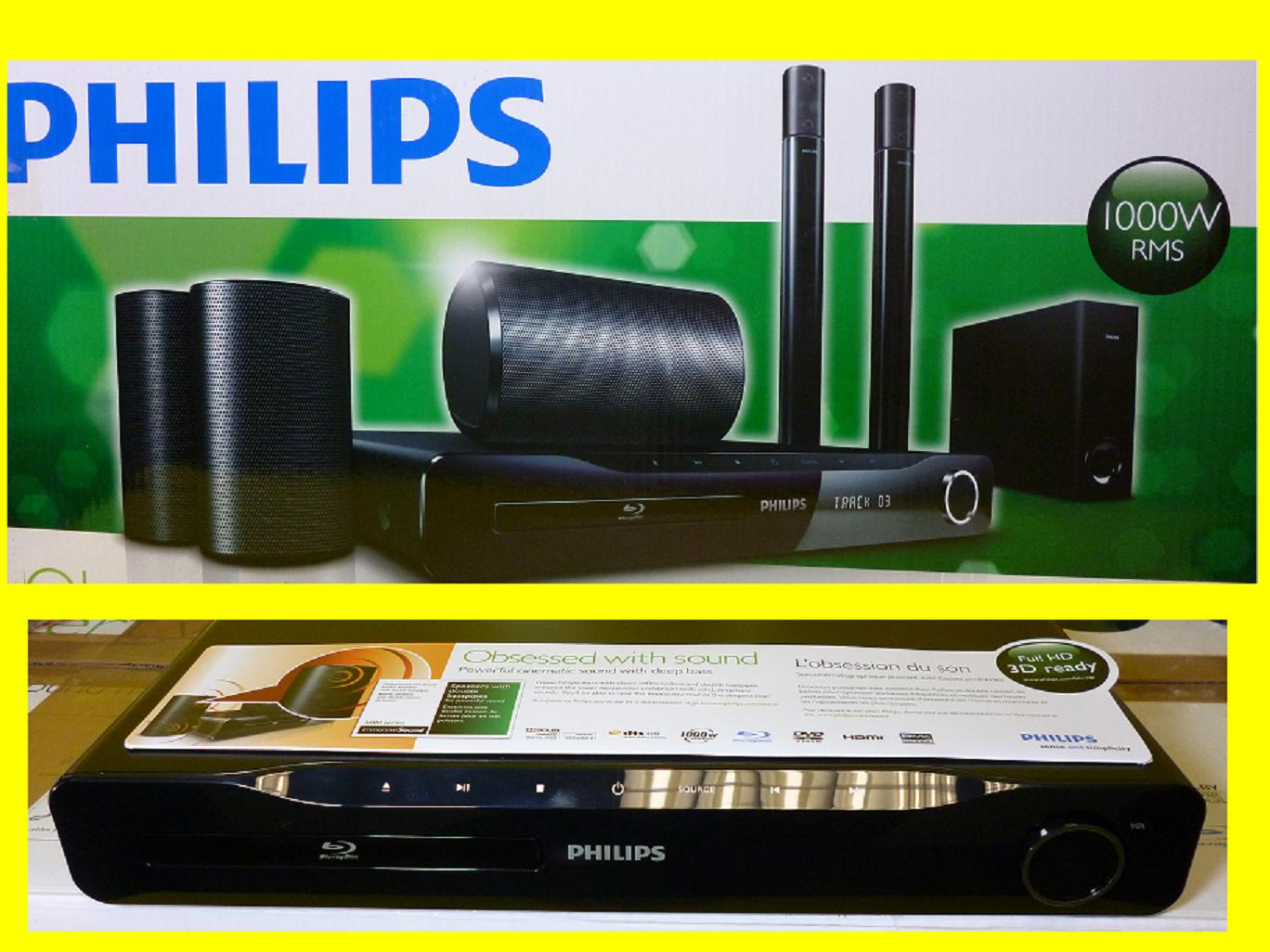 heimkinosystem philips hts3580 12 heimkino system. Black Bedroom Furniture Sets. Home Design Ideas