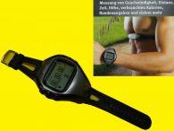 GPS-Uhr mit Herzfrequenzmesser / PC-Verbindung / Wasserdicht nach IPX7-Standard