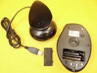 Kabellose optische 9 Tasten Funkmaus mit Ladestation / mit Scrollball