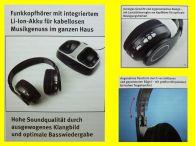 DRAHTLOSE-STEREO- FUNKKOPFHÖRER mit WIRELESS/integriertem Scan