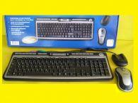 Multimedia Wireless/Funk Tastatur Slim/16 Schnellzugriffstasten/USB/PS/2/+Maus 5