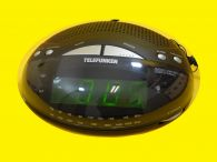 Funk-Uhrenradio / LED-Display/ SNOOZE / 2 Weckzeiten / UKW/MW / Schwarz
