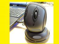 Optische PC Funkmaus /Ladestation/ /USB-Empfänger/Reichweite 5m/ Rechtshändler