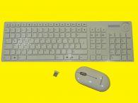 Design-Funktastatur mit Funkmaus/Reichweite bis zu 5 m und USB-Empfänger/2,4 GHz