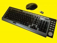 Funktastatur mit Funkmaus und USB-Empfänger/2,4 GHz Funk/Keyboard layout/QWERTY