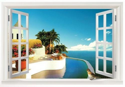 ds fenster mediterran deko wanddeko wandbild bild. Black Bedroom Furniture Sets. Home Design Ideas