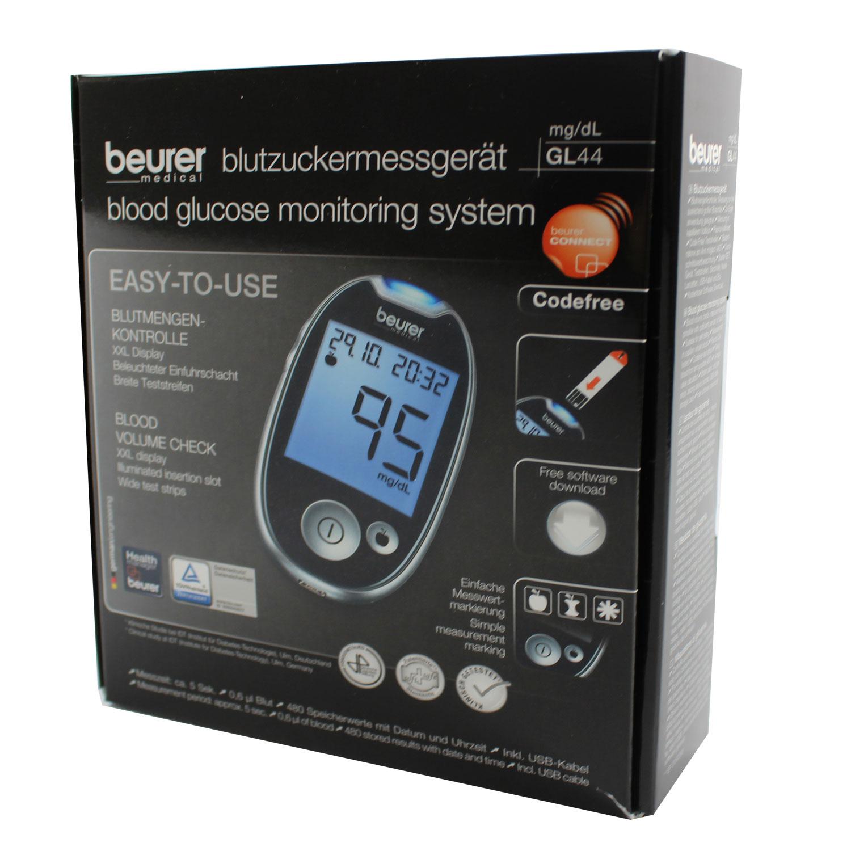 Medidor de glucosa en sangre Beurer GL44 mg/dl   eBay