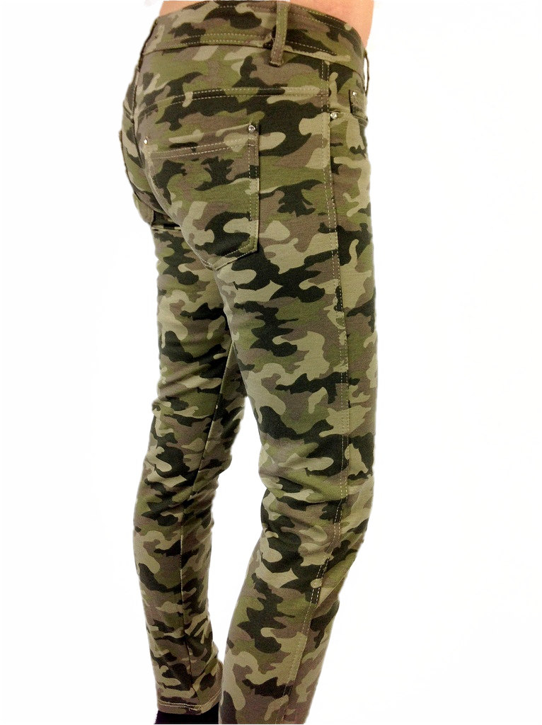 damen army h ft stretch treggings leggings jeans in camouflage muster ebay. Black Bedroom Furniture Sets. Home Design Ideas