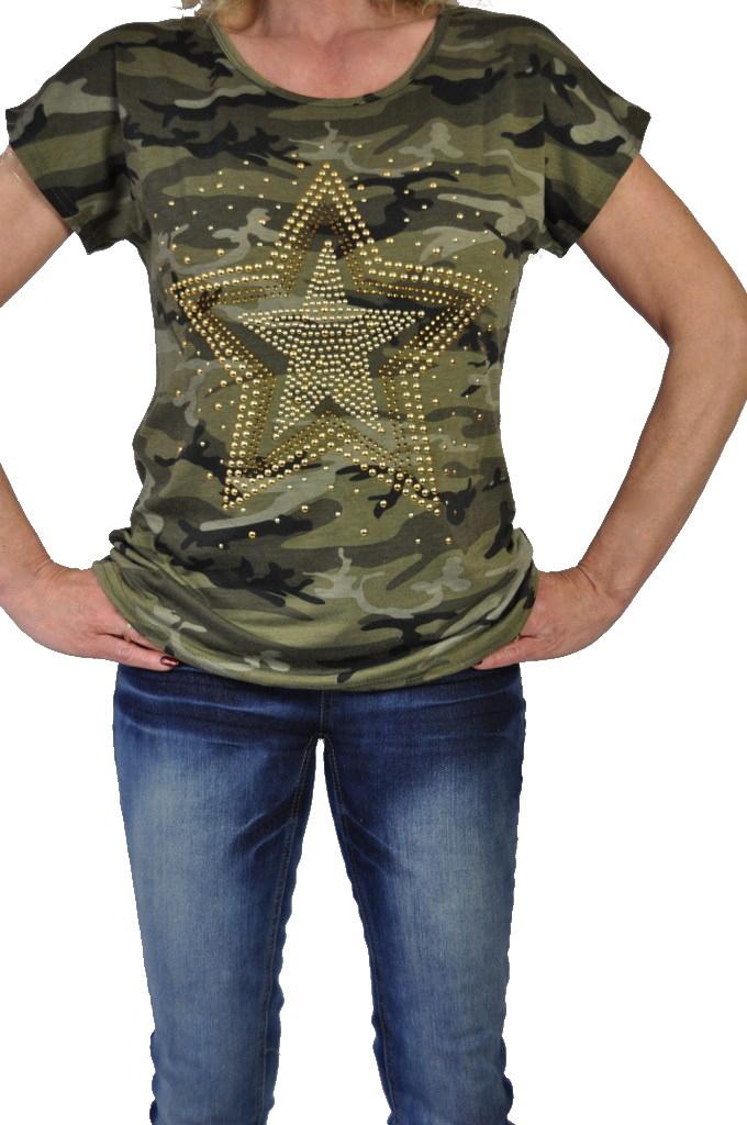 stylisches damen army t shirt camouflage muster ebay
