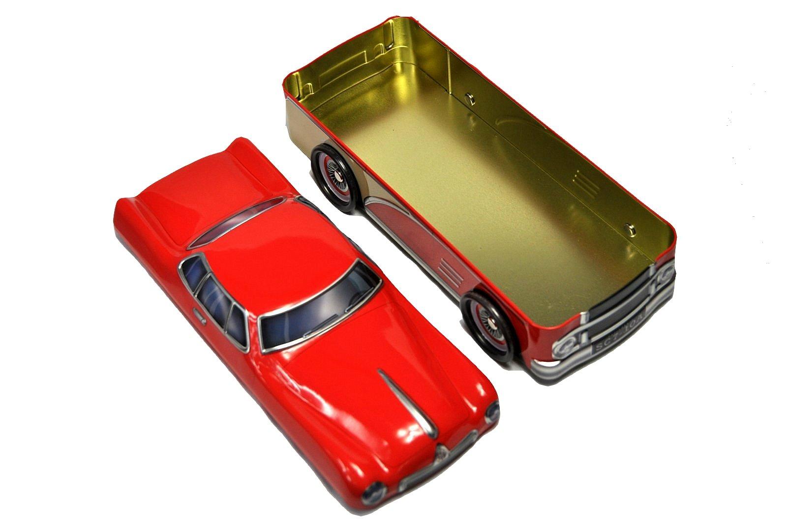 blechdose keksdose und deko box amerikanisches auto in rot 30x12x13 cm ebay. Black Bedroom Furniture Sets. Home Design Ideas
