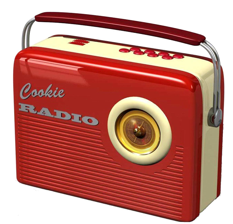 Blechdose keksdose und deko box retro cookie radio in rot for Deko retro