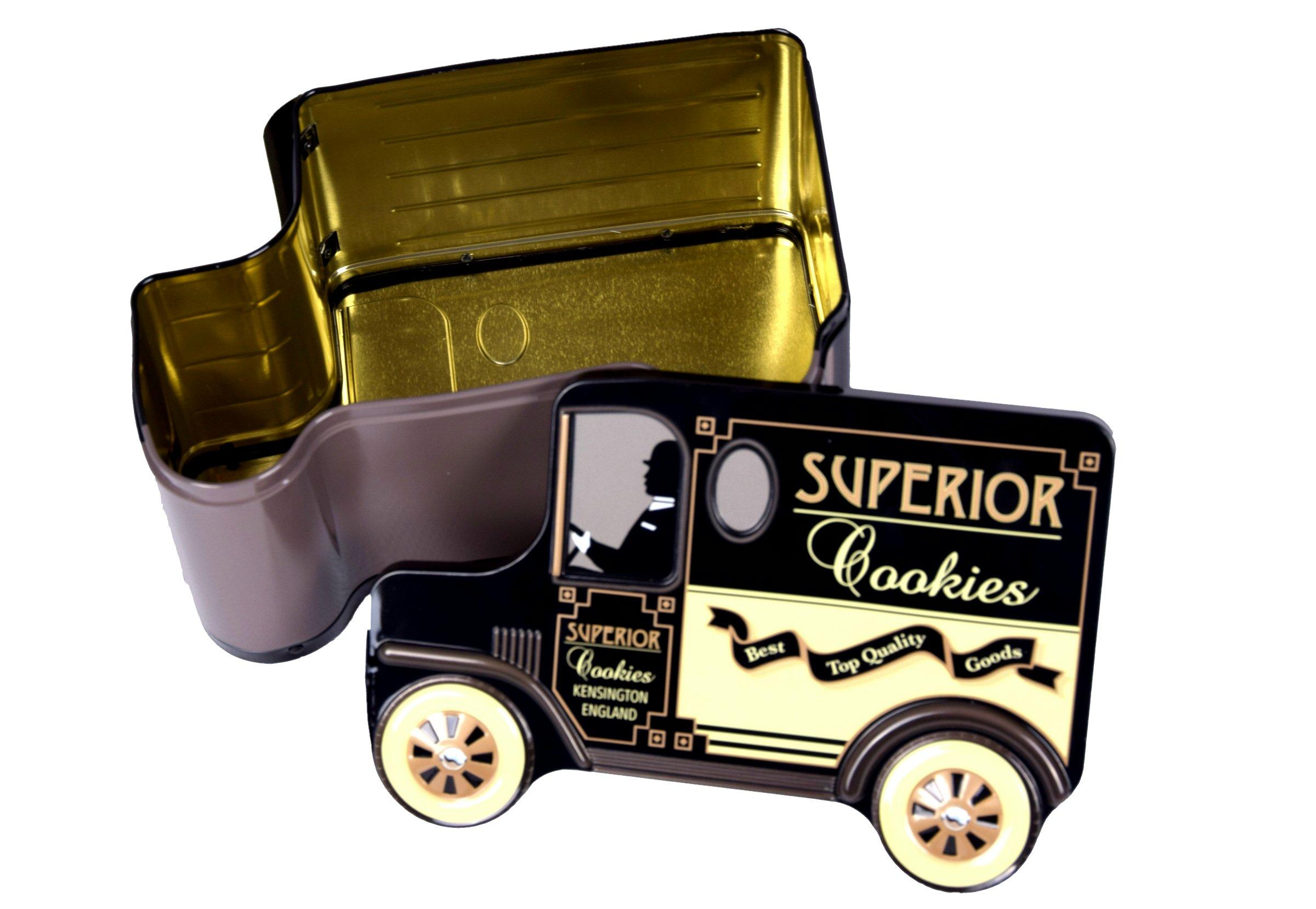 blechdose keksdose und deko box auto 39 cookie van 39 transporter 19x13x9 5 cm ebay. Black Bedroom Furniture Sets. Home Design Ideas