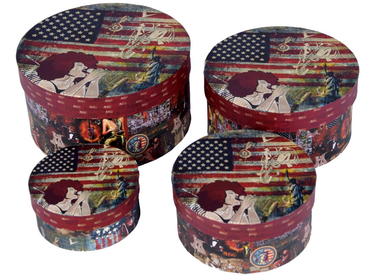 4er set deko aufbewahrungsboxen ordnungsboxen dosen usa 39 stars stripes 39 style ebay. Black Bedroom Furniture Sets. Home Design Ideas
