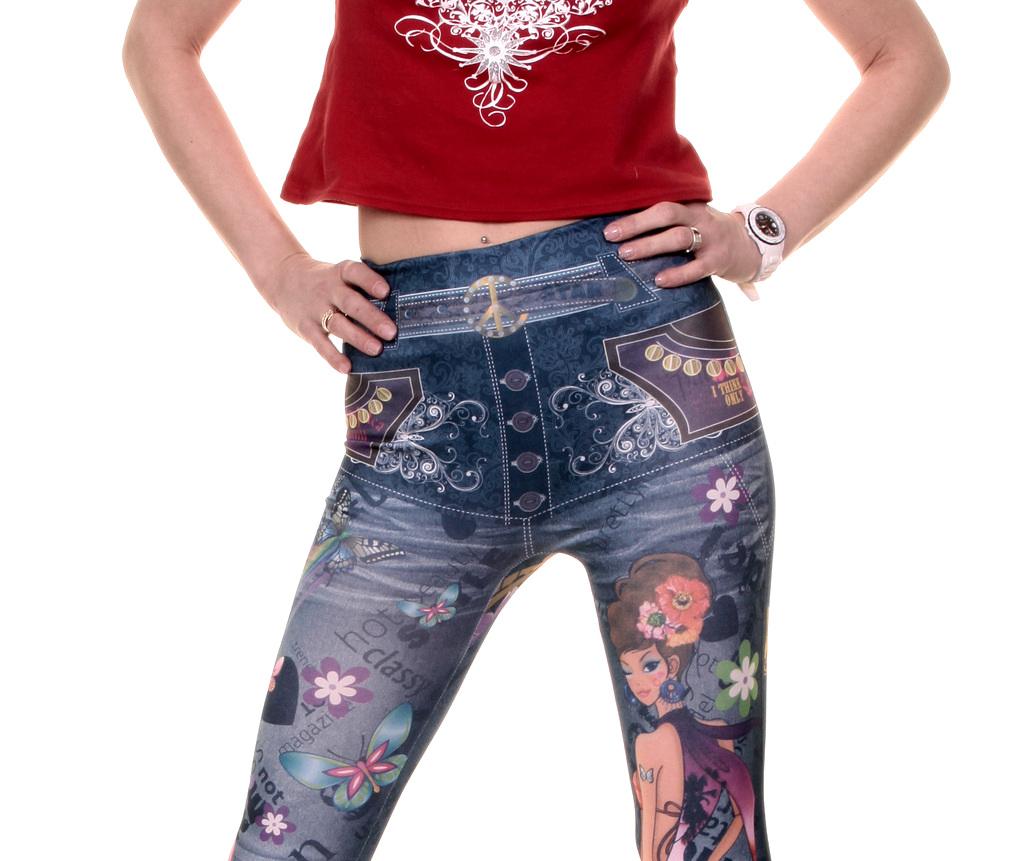 stylische bunte print leggings jeans style h fthose gr e. Black Bedroom Furniture Sets. Home Design Ideas