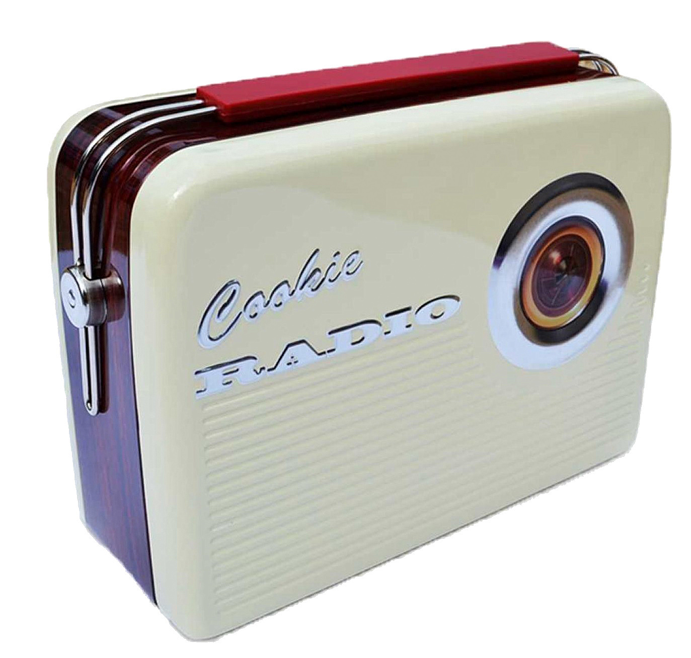 Blechdose keksdose und deko box retro cookie radio in wei for Deko retro