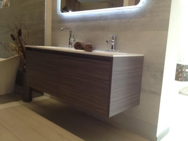 badm bel serie ferrano 140 cm mit doppelwachbecken made in germany wenge ebay. Black Bedroom Furniture Sets. Home Design Ideas