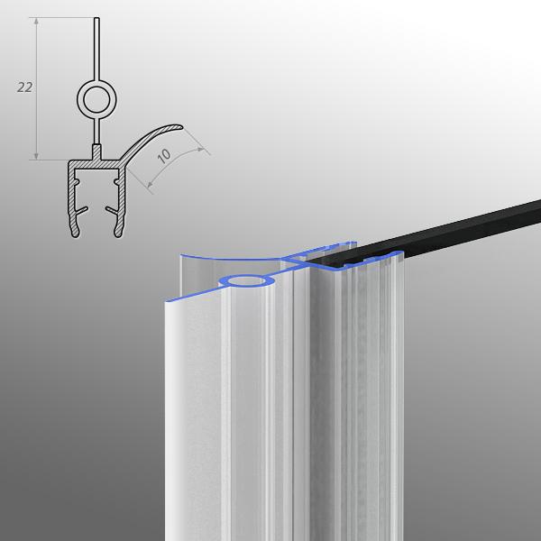premium duschdichtung verschiedene modelle f r 6 mm glasst rke ebay. Black Bedroom Furniture Sets. Home Design Ideas