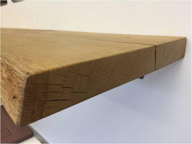 Waschtischplatte 179 8x52x6 cm eiche mit baumkante vollmassiv echtholz unikat ebay - Waschtischplatte echtholz ...