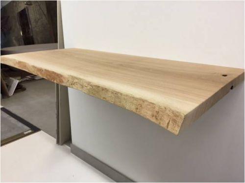 Waschtischplatte 106x55x3 5 cm eiche mit baumkante - Waschtischplatte echtholz ...