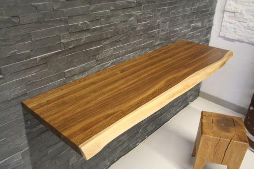 Echtholz waschtischplatte 120x45x4 cm eiche mit baumkante - Waschtischplatte echtholz ...