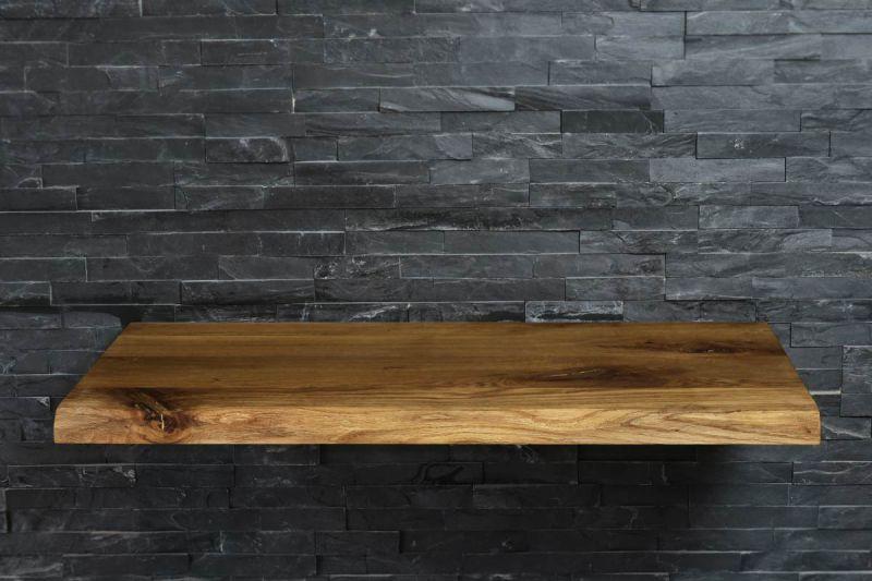 eiche massiv echtholz waschtischplatte mit baumkante ge lt badm bel waschtisch ebay. Black Bedroom Furniture Sets. Home Design Ideas