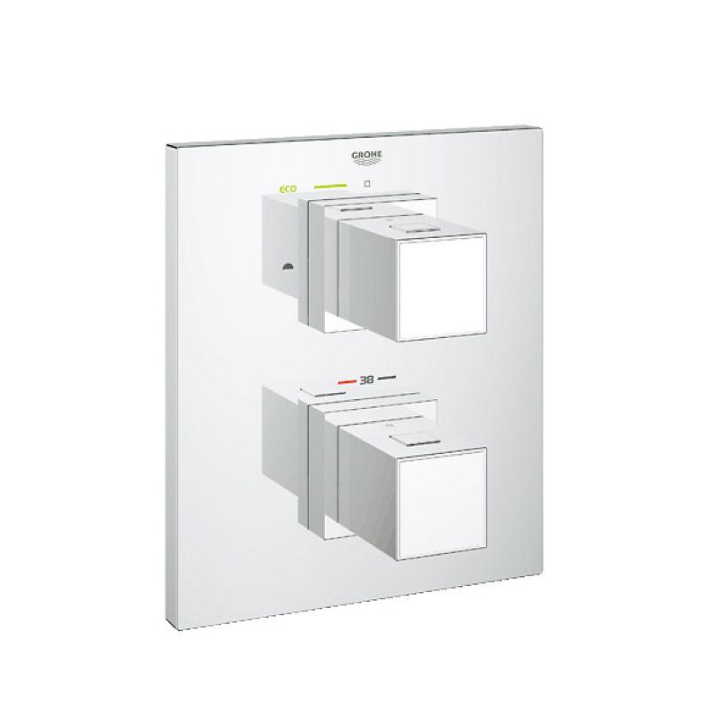 grohe thermostat unterputz duscharmatur set grohtherm cube. Black Bedroom Furniture Sets. Home Design Ideas