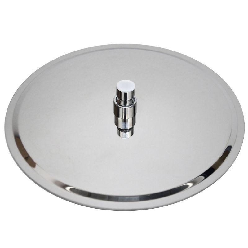 Kopfbrause rund regendusche regenbrause brausekopf duschkopf edelstahl poliert ebay - Quadratische edelstahl designer duschkopf ...