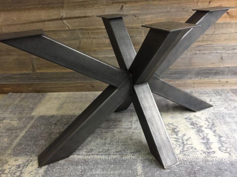 kreuz spider tischgestell tischkufen industriedesign. Black Bedroom Furniture Sets. Home Design Ideas