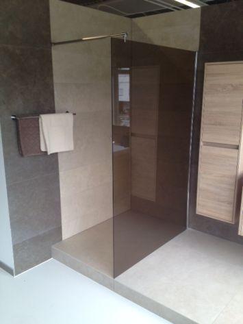 duschtrennwand heidi in esg bronze glas walk in dusche duschkabine duschabtrennu ebay. Black Bedroom Furniture Sets. Home Design Ideas