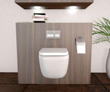 h nge wc modell elon nur 47 cm kurz inklusive soft close deckel ebay. Black Bedroom Furniture Sets. Home Design Ideas