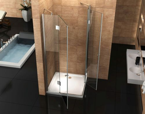 duschkabine eckeinstieg 110x110 cm duschabtrennung duschwand dusche ebay. Black Bedroom Furniture Sets. Home Design Ideas