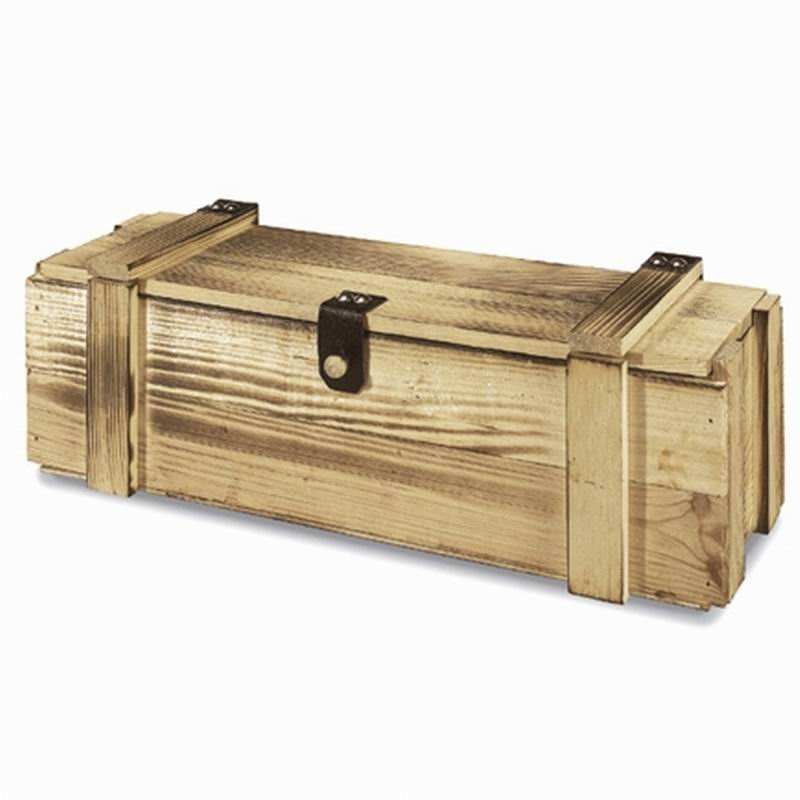holzkisten weinkisten transportkisten f r 1 flasche aus holz mit leisten ebay. Black Bedroom Furniture Sets. Home Design Ideas