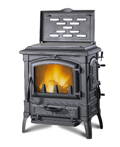 gussofen isetta mit kochplatte inkl rauchrohren ofen. Black Bedroom Furniture Sets. Home Design Ideas