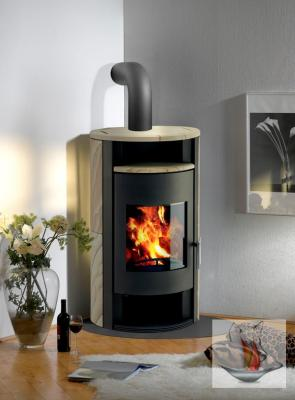 kaminofen wamsler delta bronze sandstein 8 kw holzfach eckig kamin ofen holz ebay. Black Bedroom Furniture Sets. Home Design Ideas