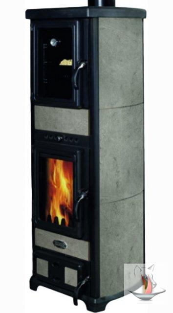 kaminofen sideros jolie forno gesandstrahlter speckstein mit backfach 7 kw kamin ebay. Black Bedroom Furniture Sets. Home Design Ideas