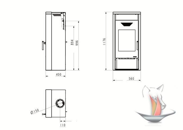 kaminofen wamsler yara schwarz sandstein rainbow 6kw holzofen kamin ofen ebay. Black Bedroom Furniture Sets. Home Design Ideas