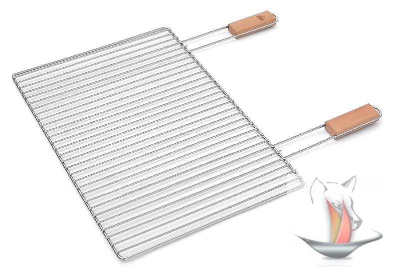 verchromter grillrost 47x32 cm grillgitter griffe grill sunday holzgrill mcz ebay. Black Bedroom Furniture Sets. Home Design Ideas