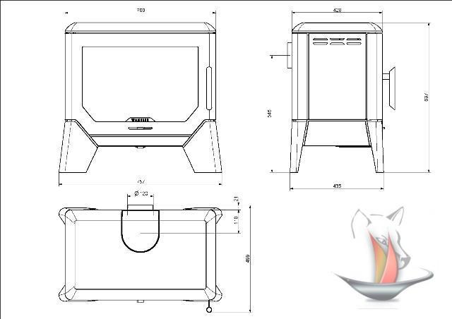kaminofen gussofen wamsler f box 8 kw guss ofen kamin holz kohle aachen ebay. Black Bedroom Furniture Sets. Home Design Ideas