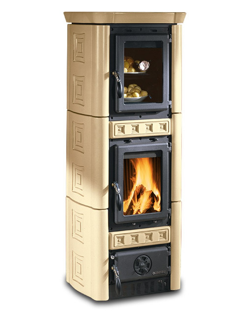 kaminofen gaia forno mit backfach la nordica din plus 6 kw ofen ebay. Black Bedroom Furniture Sets. Home Design Ideas